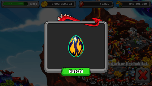 Dragonvale Char dragon Egg