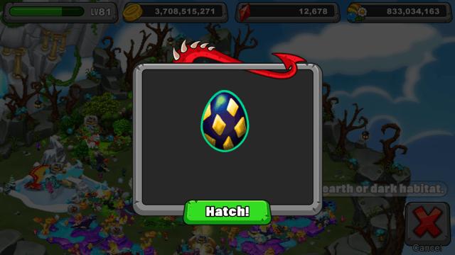 Dragonvale Subterranean Dragon Egg