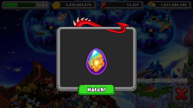 DragonVale Nova Dragon Egg