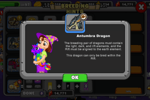 dragonvale ant umbra dragon