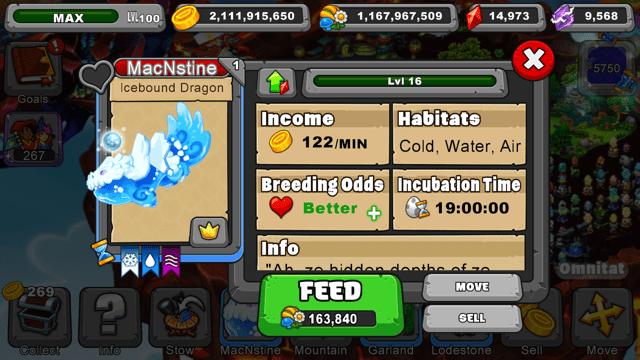 Dragonvale Icebound Dragon