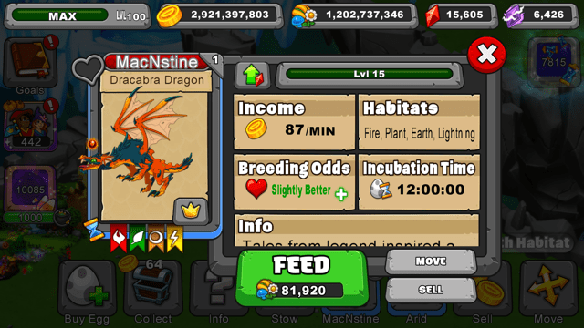 Dragonvale Dracabra Dragon