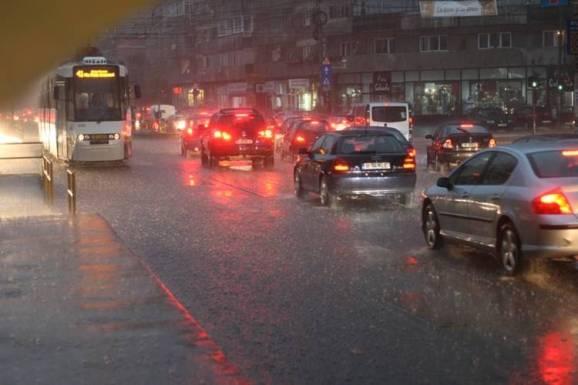 bucureștiul sub ploaie