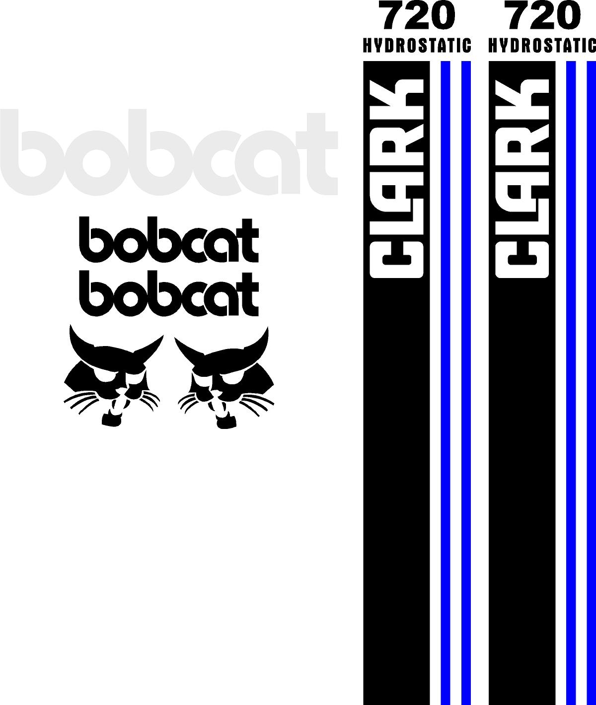 Decal Kits Product : Bobcat clark replacement decal kit sticker set