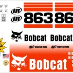 Bobcat 863 G replacement decal kit