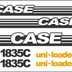 Case 1835C Skid loader new replacement decal sticker kit NS