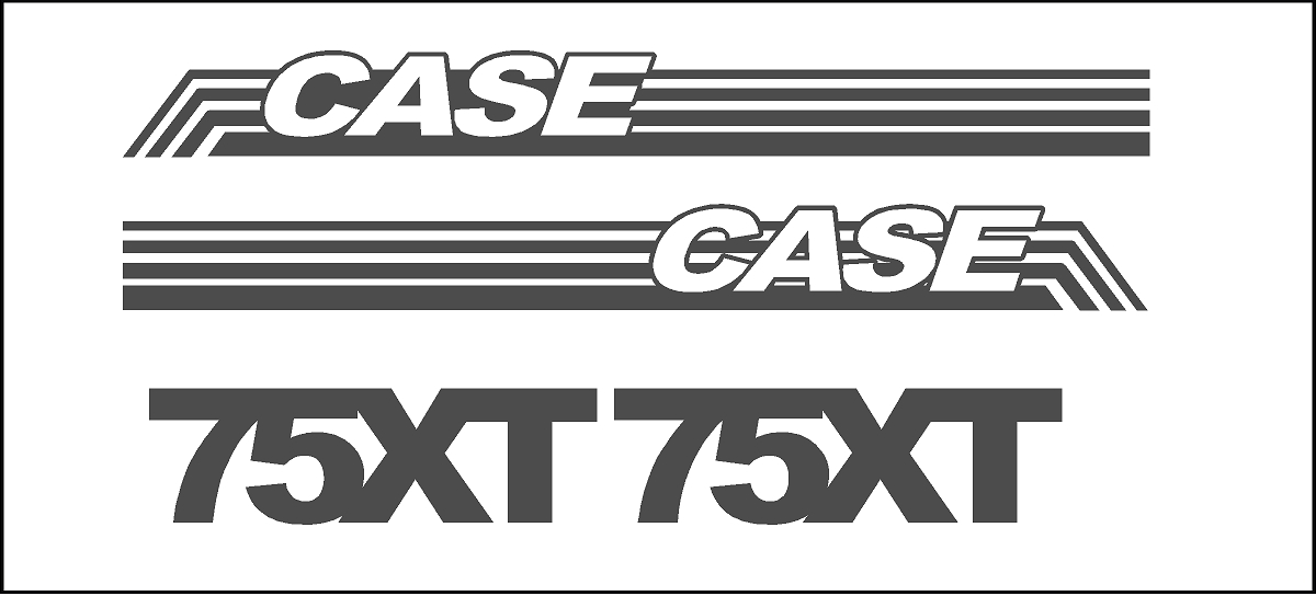 7250 Case Decal Kits : Case xt skidloader new replacement decal sticker kit