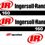 Ingersoll Rand 160 air compressor decal kit