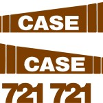 Case 721 Wheel Loader decal kit