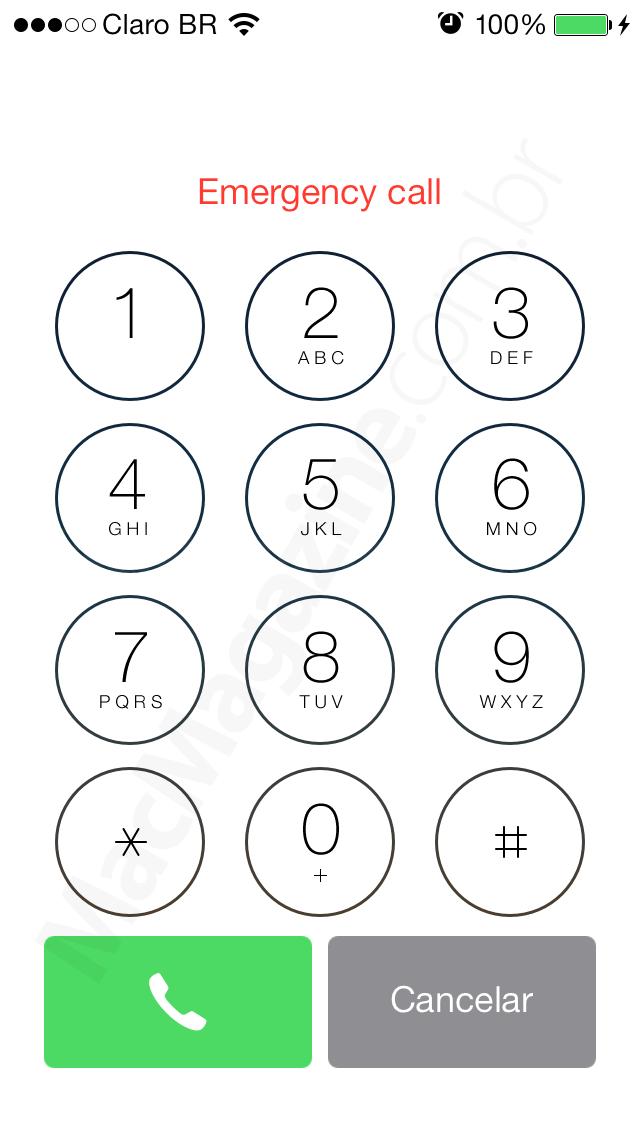 Ligação de emergência no iOS 7