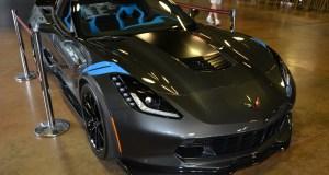 2017 Corvette Grand Sport Collector Edition in Watkins Glen Gray Metallic and Tension Blue interior.