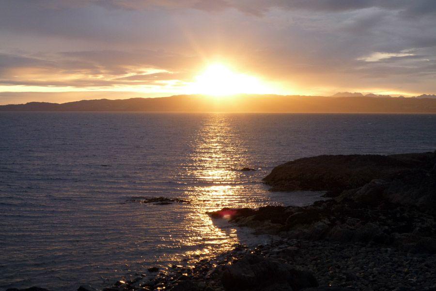 Atardecer en Skye visto desde Mallaig