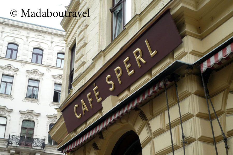 Letrero del Café Sperl, Viena