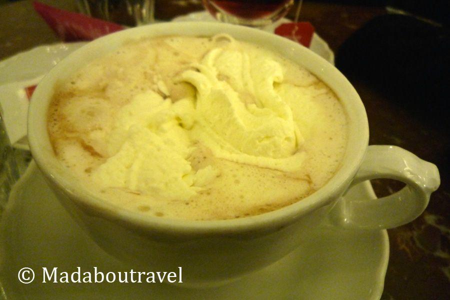 Chocolate caliente en Café Dommayer