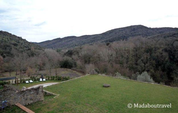 Vistas desde la terraza del Mas Can Batlle