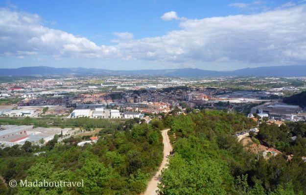 Vistas del Vallés desde la torre del telégrafo de Montornès del Vallès