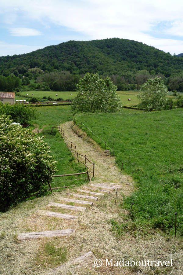Vistas del valle del Ser en Santa Pau, la Garrotxa