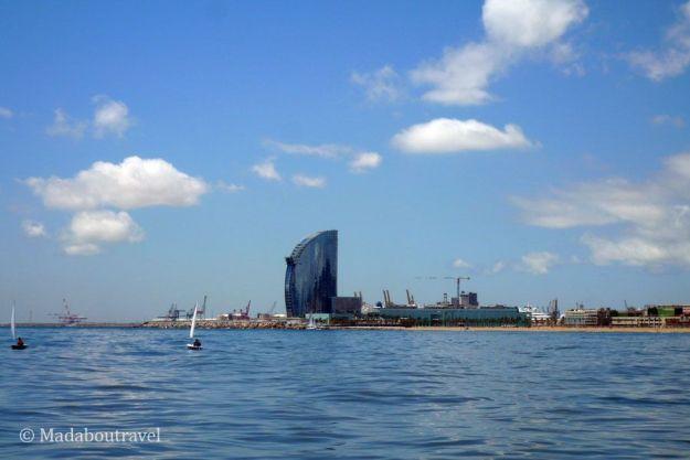 Barcelona vista desde el mar