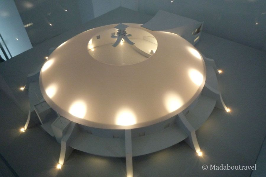 Maqueta de Mackintosh para una sala de conciertos que nunca se contruyó