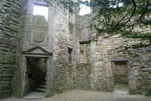 Patio interior del castillo de Craigmillar