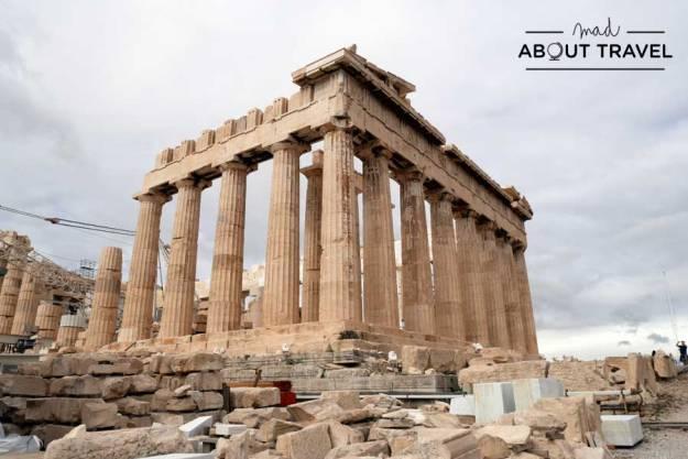 El Partenón en la Acrópolis de Atenas