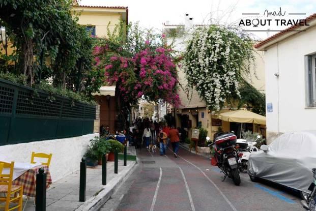 Calles de Plaka en Atenas