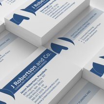 J Robertson and Co. business cards