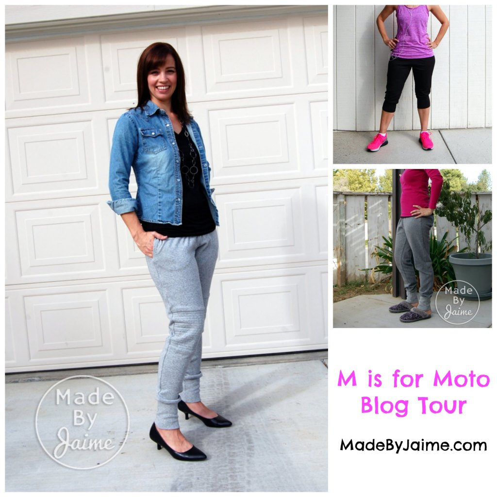 M is for Moto Joggers by Hatchling Patterns