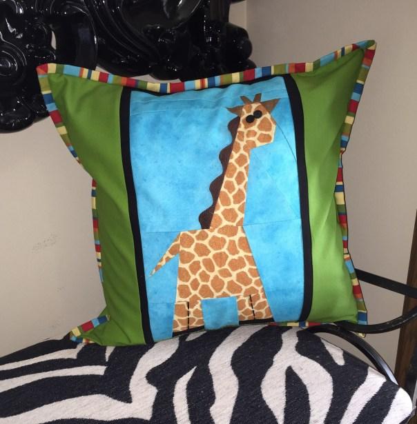 Giraffe Pillow cropped