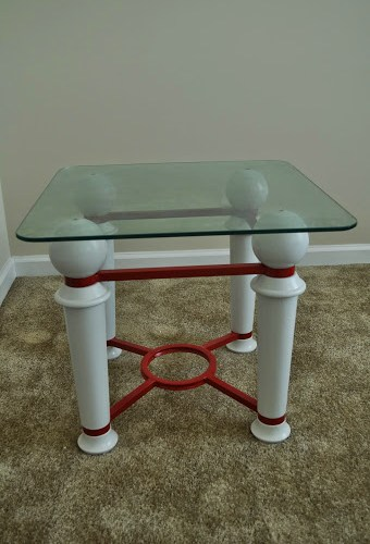 Thrift Store Find: Side Table with Glass Top Rescue