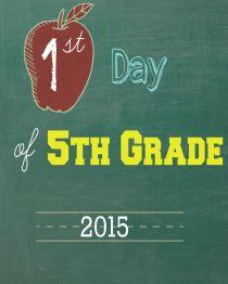 Fifth Grade 2015