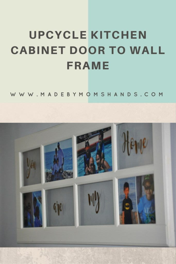 Upcycle Kitchen cabinet door to wall frame