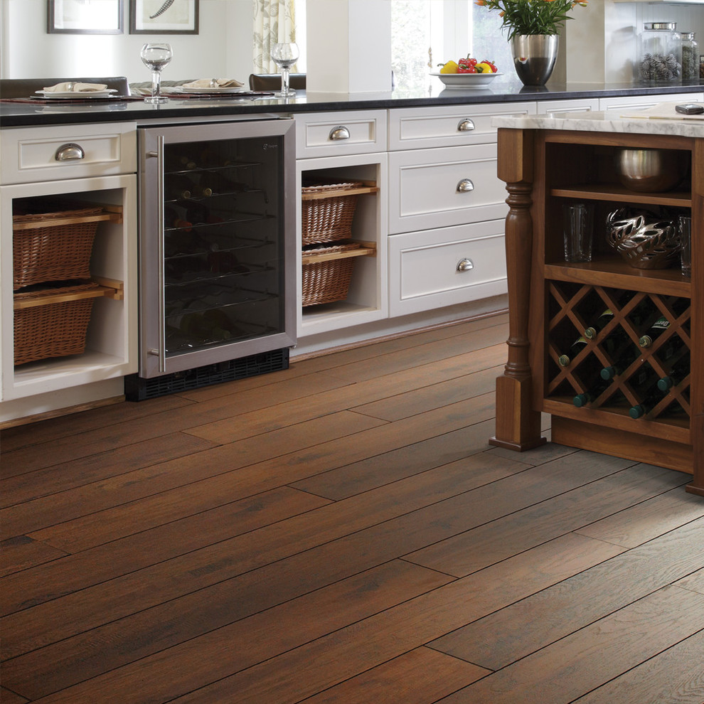 Chic shaw flooring in Kitchen Traditional with Hickory Laminate Flooring next to Dark Laminate Floor alongside Laminate Wood Flooring andHickory Floors