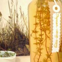 Le vinaigre au thym-miel
