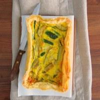 recette express : quiche courgette-mozzarella