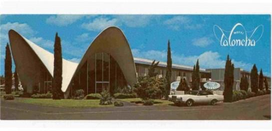 1960s era La Concha Motel postcard