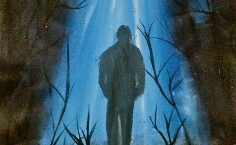 Walk away canvas painting