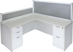 Small Of White L Shaped Desk
