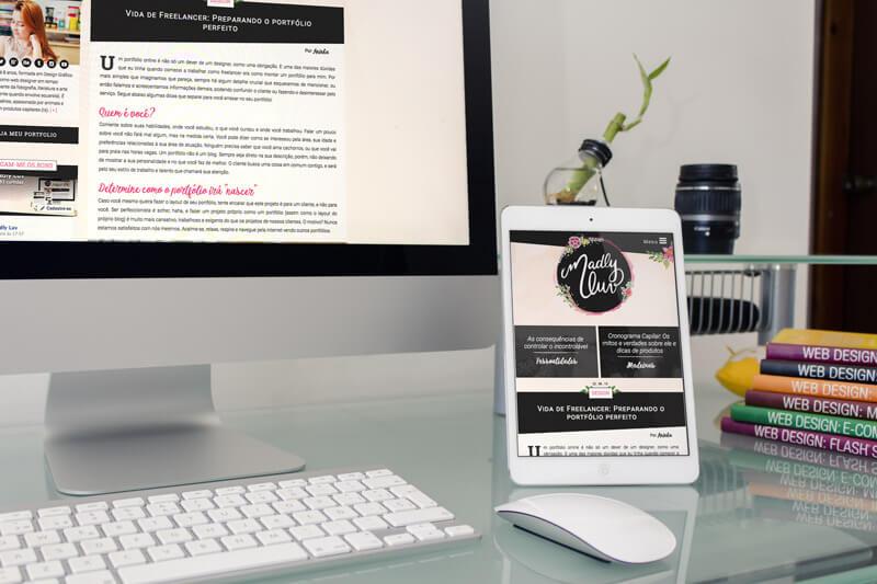 Vida de freelancer - exemplo de mockup - por madlyluv.com