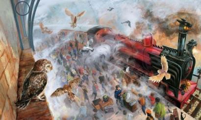 Ilustração da capa de HP e a Pedra Filosofal (fonte: Konbini)