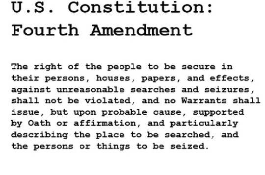fourth amendment is sick