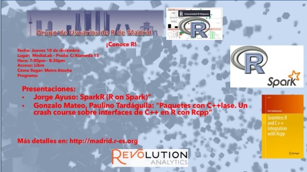 Reunion Grupo Usuarios de R de Madrid - 2015-Dic-10 - V2.0