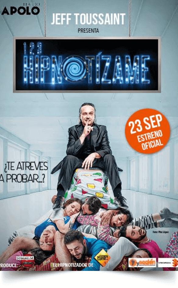 1, 2, 3, HIPNOTÍZAME, de Antena 3 al escenario del Teatro Nuevo Apolo