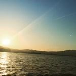 琵琶湖の夕暮れ。
