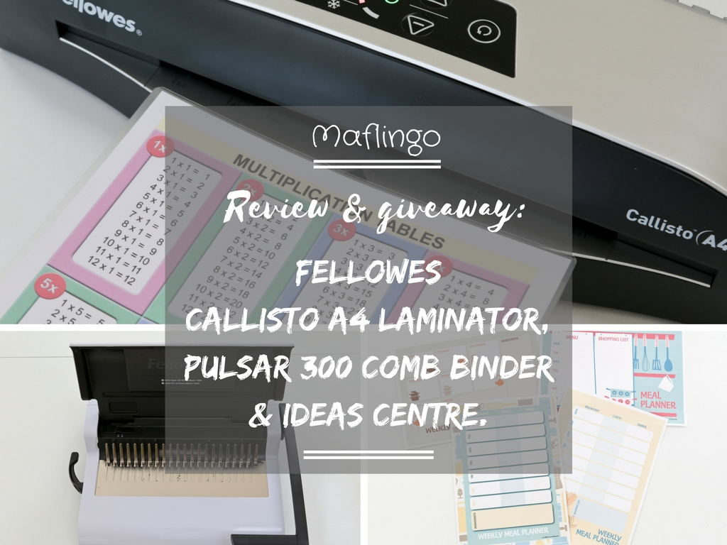 Review & giveaway: Fellowes Callisto A4 Laminator & Pulsar+ 300 Comb Binder.