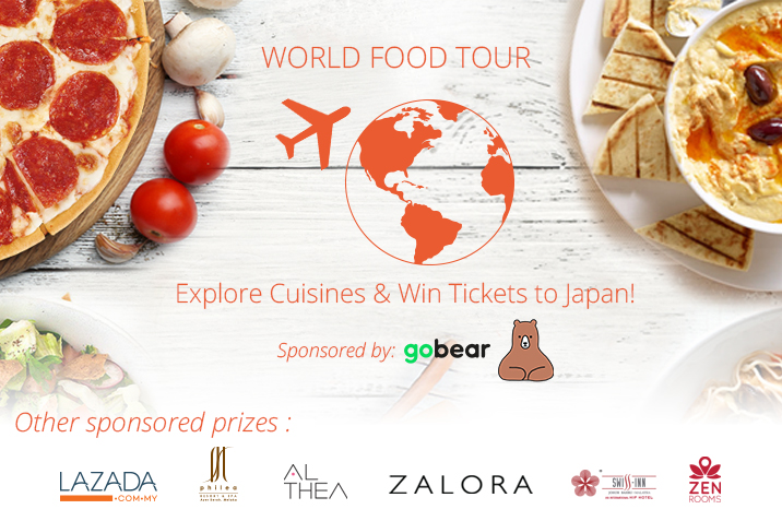 It's time to go around the world with the World Food Tour!