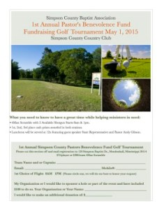1st Annual SCBA Pastors Benevolence Fund Golf Tournament