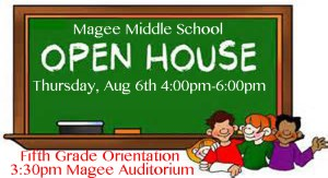 Magee Middle School Open House @ Magee Middle School | Magee | Mississippi | United States