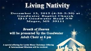 Living Nativity @ Goodwater Baptist Church