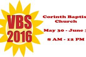 VBS at Corinth Baptist Church!